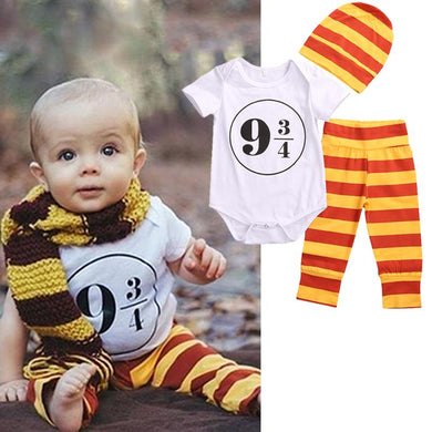 3Pcs 9 3/4 Newborn Baby Clothes Set 0-18M