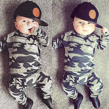 Newborn Toddler Baby Army Style T-shirt + Pants Set (2PCS)