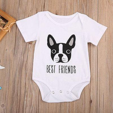 Best Friends Baby Romper
