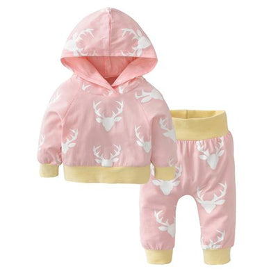 2 Variant (Black/Pink) || Boys/Girls Deer Outfit (Set)