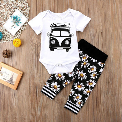 2Pcs Newborn Baby Summer Set