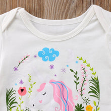 Floral Framed Unicorn Pattern Onesie