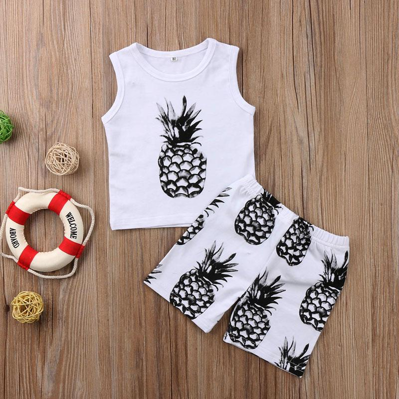 Pineapples Black & White Set