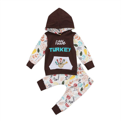 Little Turkey Hooded Set