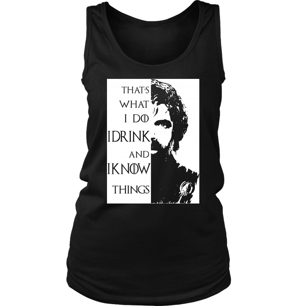 I drink I know Womens Tank