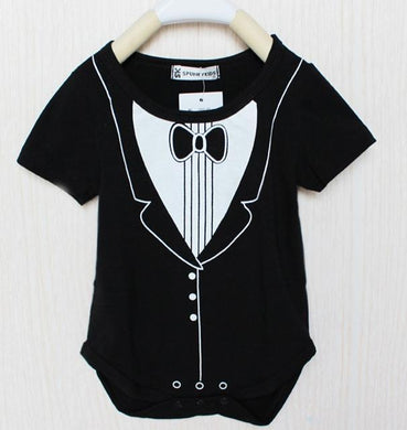 Black Suite & Bow Tie Onesie