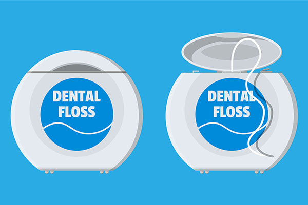 what is dental floss made of
