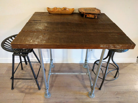 wowe blog trash to treasure old wood bar table