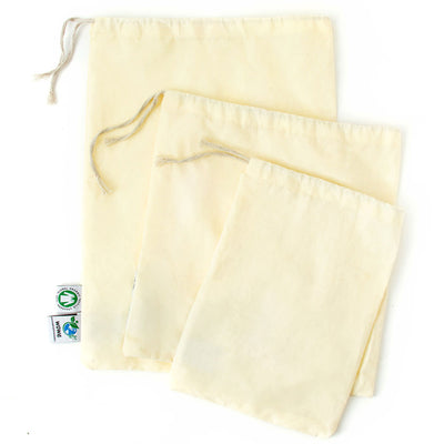 organic cotton muslin bag