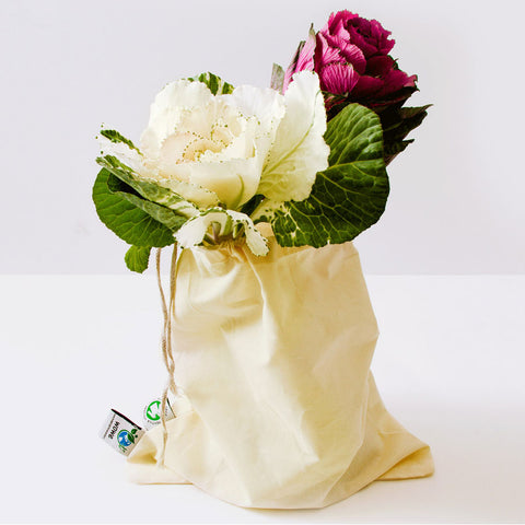 Image of organic cotton muslin bag