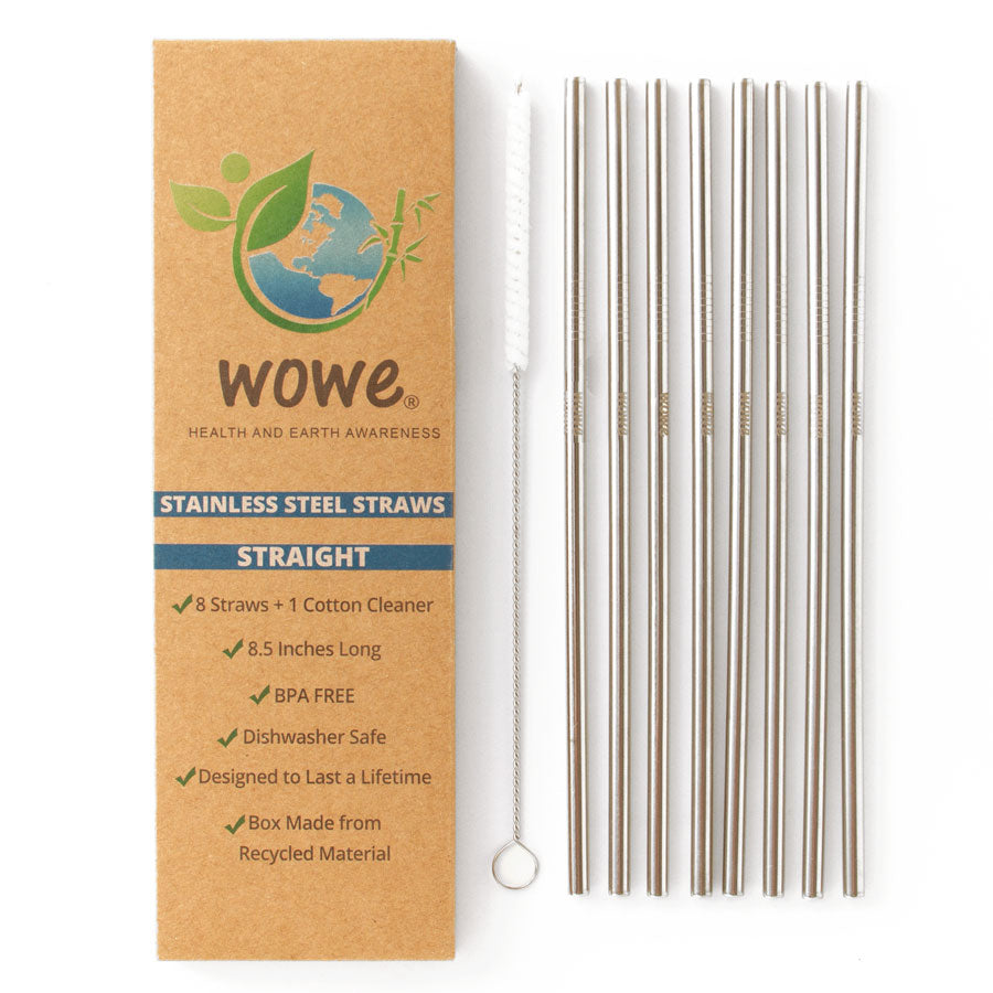 straight stainless steel straws