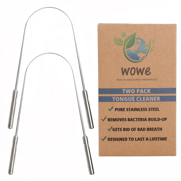 Tongue Cleaner Scraper   Stainless Steel 1