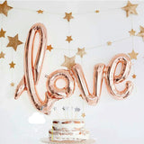Large foil LOVE Letter Balloon in Light Pink