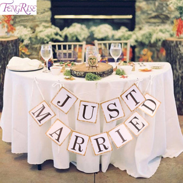 Just Married Wedding Paper Banner Decoration