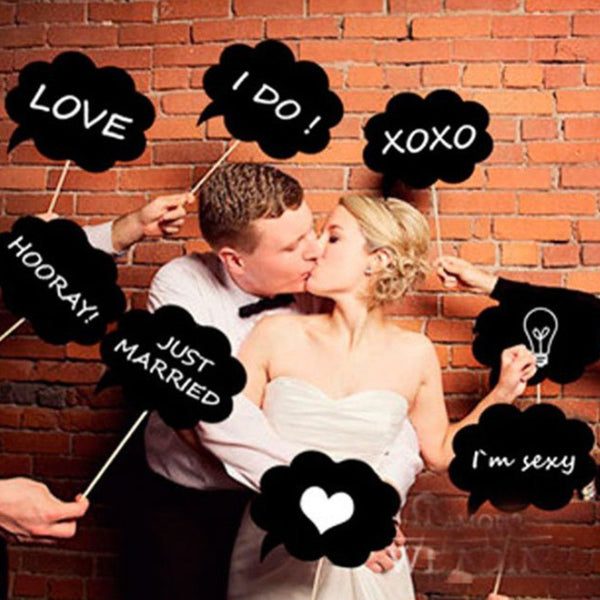10pcs DIY Wedding Photo Prop Chalkboard Signs