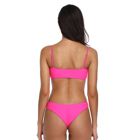 Bandeau Top with Cheeky Cut Bottom Bikini Set - Dixperfect
