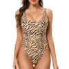 Malibu Retro 80s/90s Inspired High Cut Low Back One Piece in Tiger