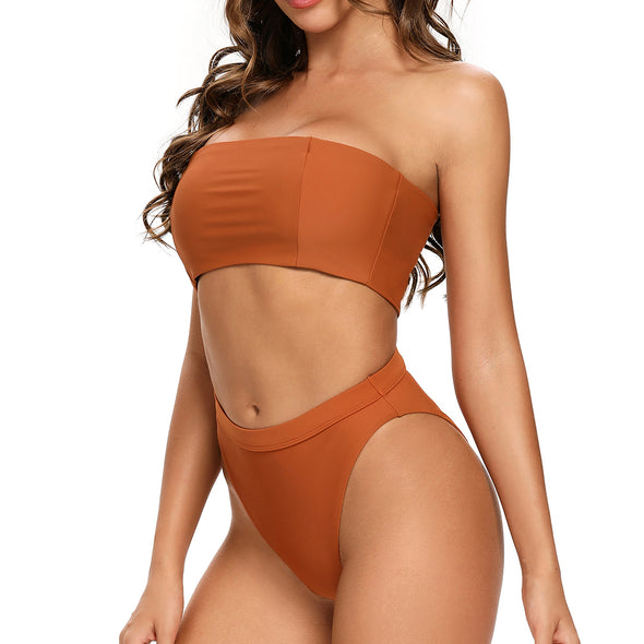 Hacienda Two Pieces Bandeau Bikini Set in Peru