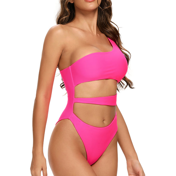 Montara Reversible One Shoulder Swimsuit in Pink