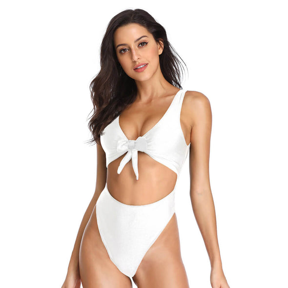 Seamless Tie up Front One Piece - Dixperfect