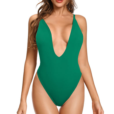 Torrance Deep V-Neck Plunge Side Scoop One Piece