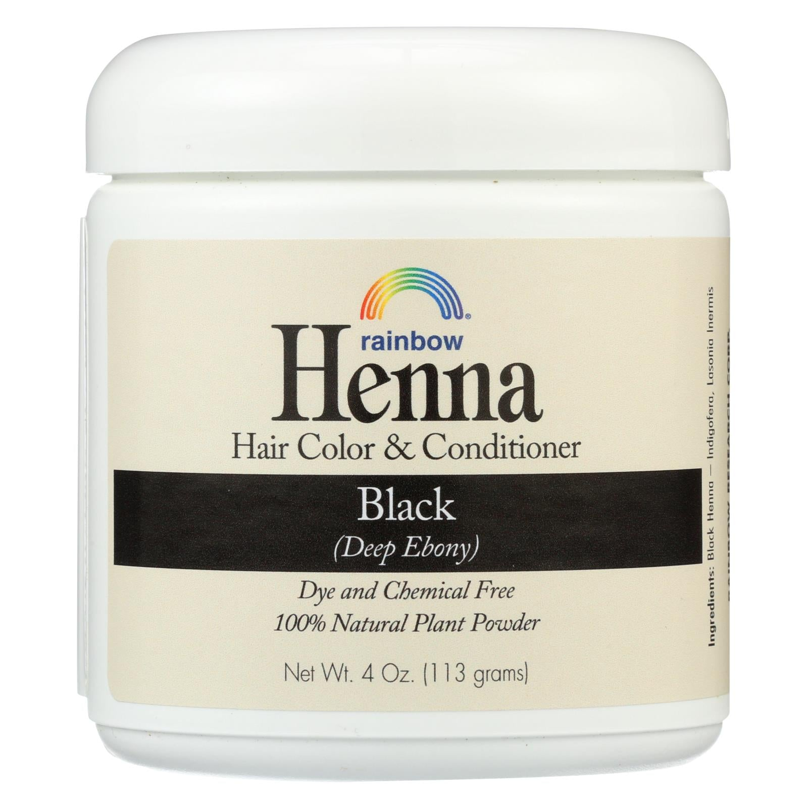 Buy Rainbow Research Henna Hair Color and Conditioner Persian Black Deep Ebony - 4 oz - Hair Color from Veroeco.com