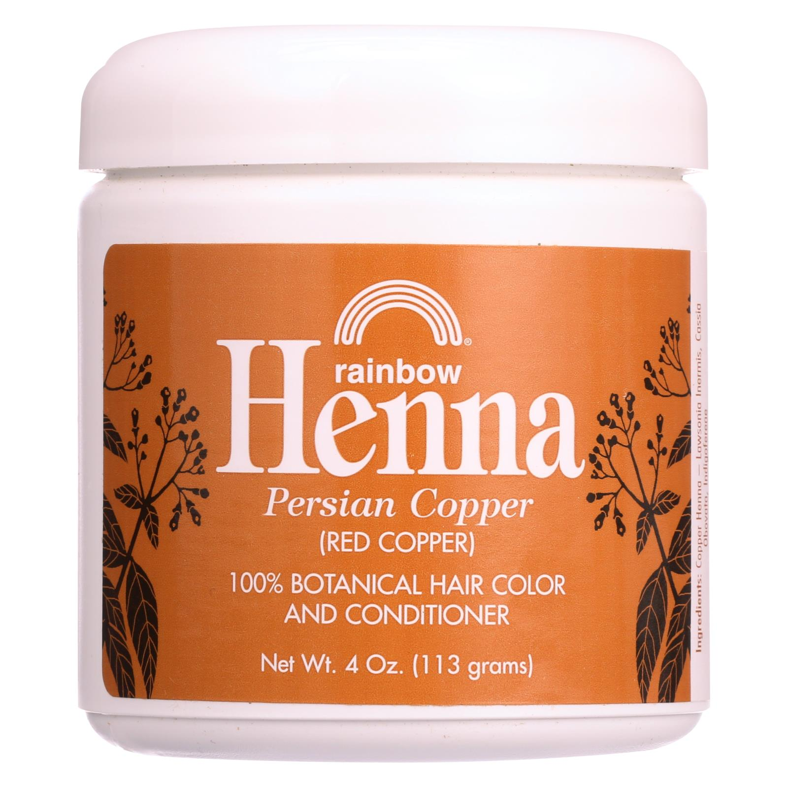 Buy Rainbow Research Henna Hair Color and Conditioner Persian Copper Red Copper - 4 oz - Hair Color from Veroeco.com