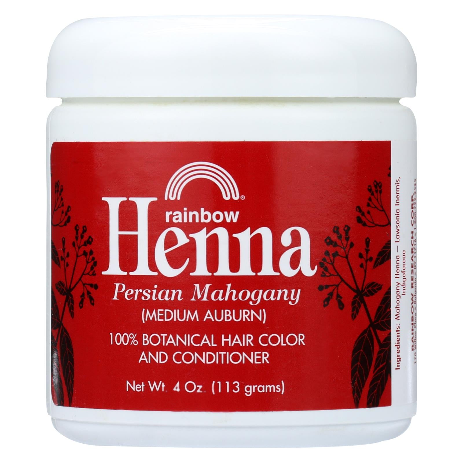 Buy Rainbow Research Henna Hair Color and Conditioner Persian Mahogany Medium Auburn - 4 oz - Hair Color from Veroeco.com