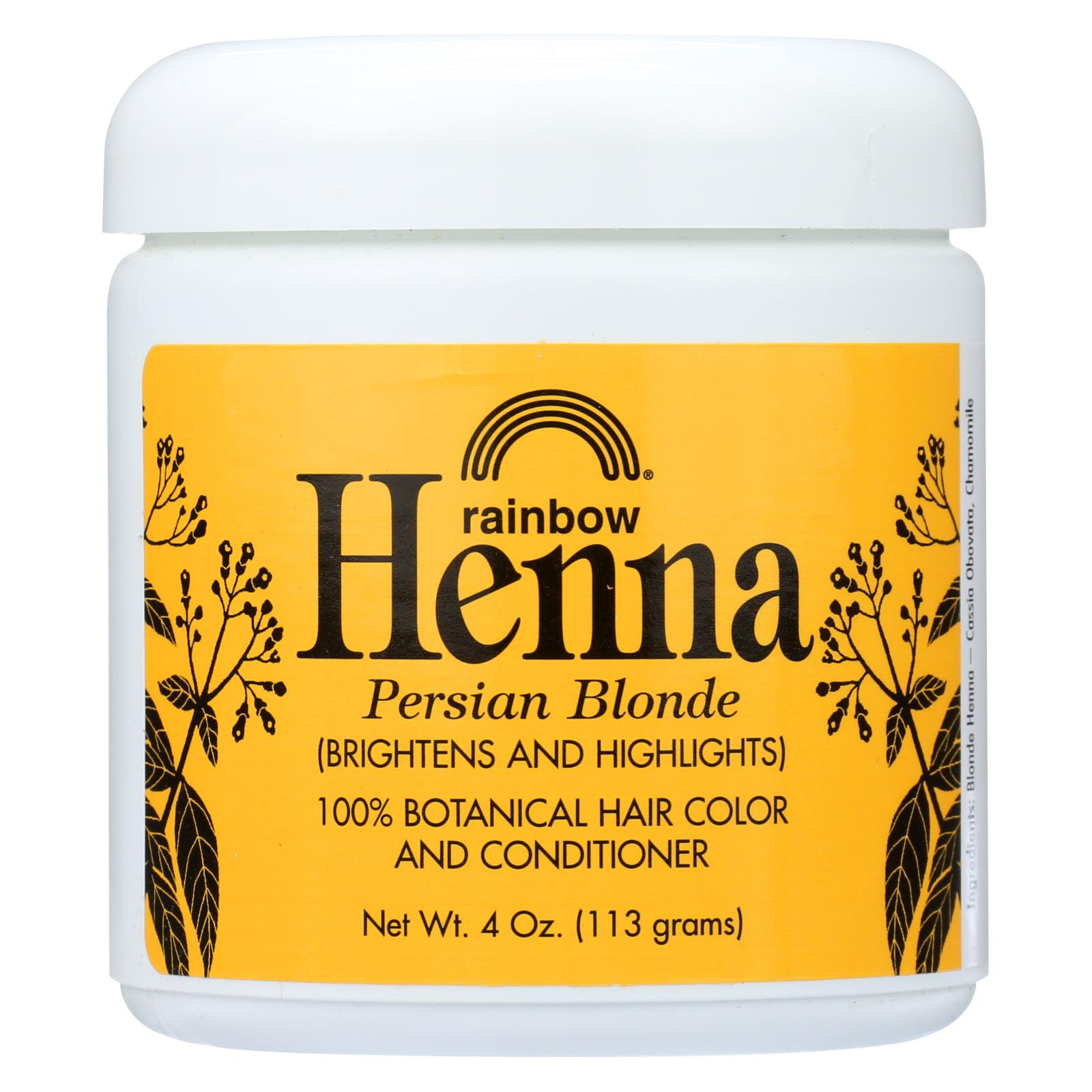 Buy Rainbow Research Henna 100% Botanical Hair Color and Conditioner - Persian Blonde - 4 oz - Hair Color from Veroeco.com
