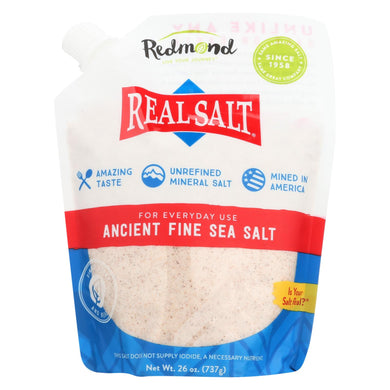 Real Salt Nature's First Sea Salt Fine Salt - 26 oz - Case of 12