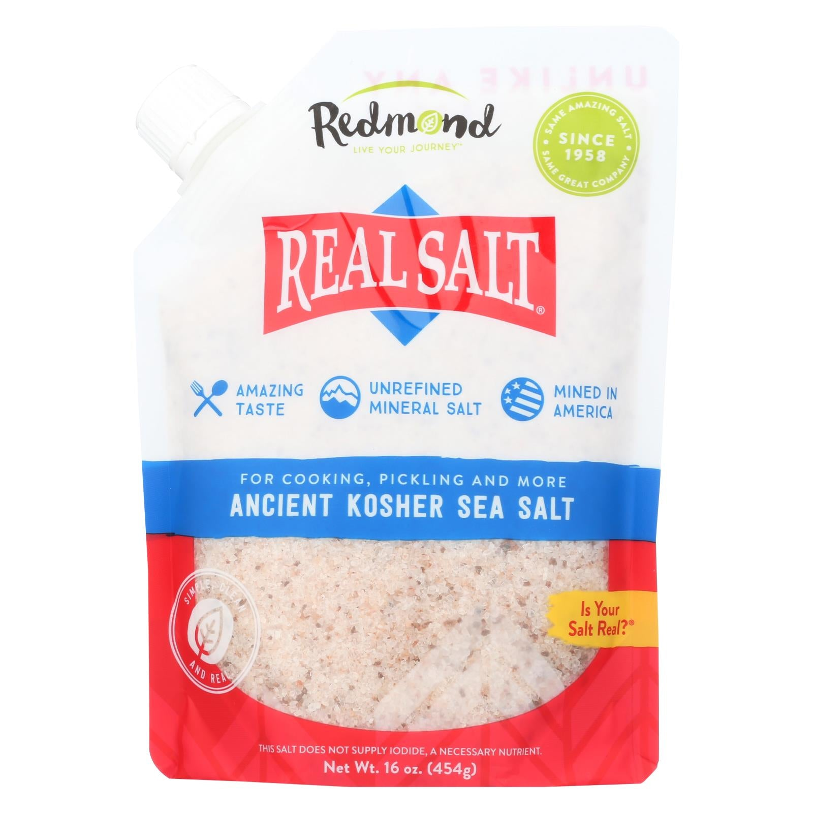 Buy Real Salt Kosher Sea Salt Pouch - 16 oz - Salt, Spices and Seasonings from Veroeco.com