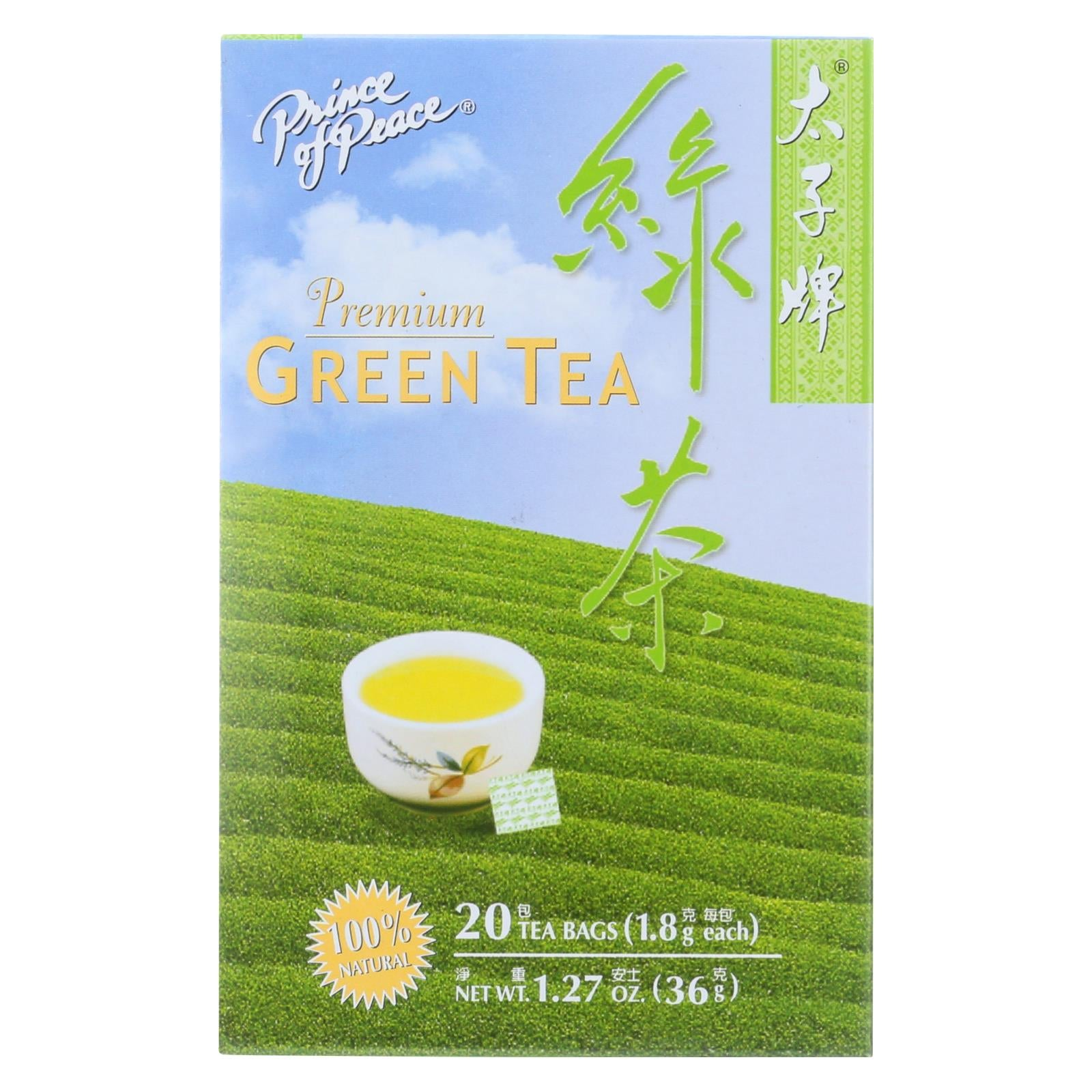 Buy Prince of Peace Premium Green Tea - 20 Tea Bags - Green Tea from Veroeco.com