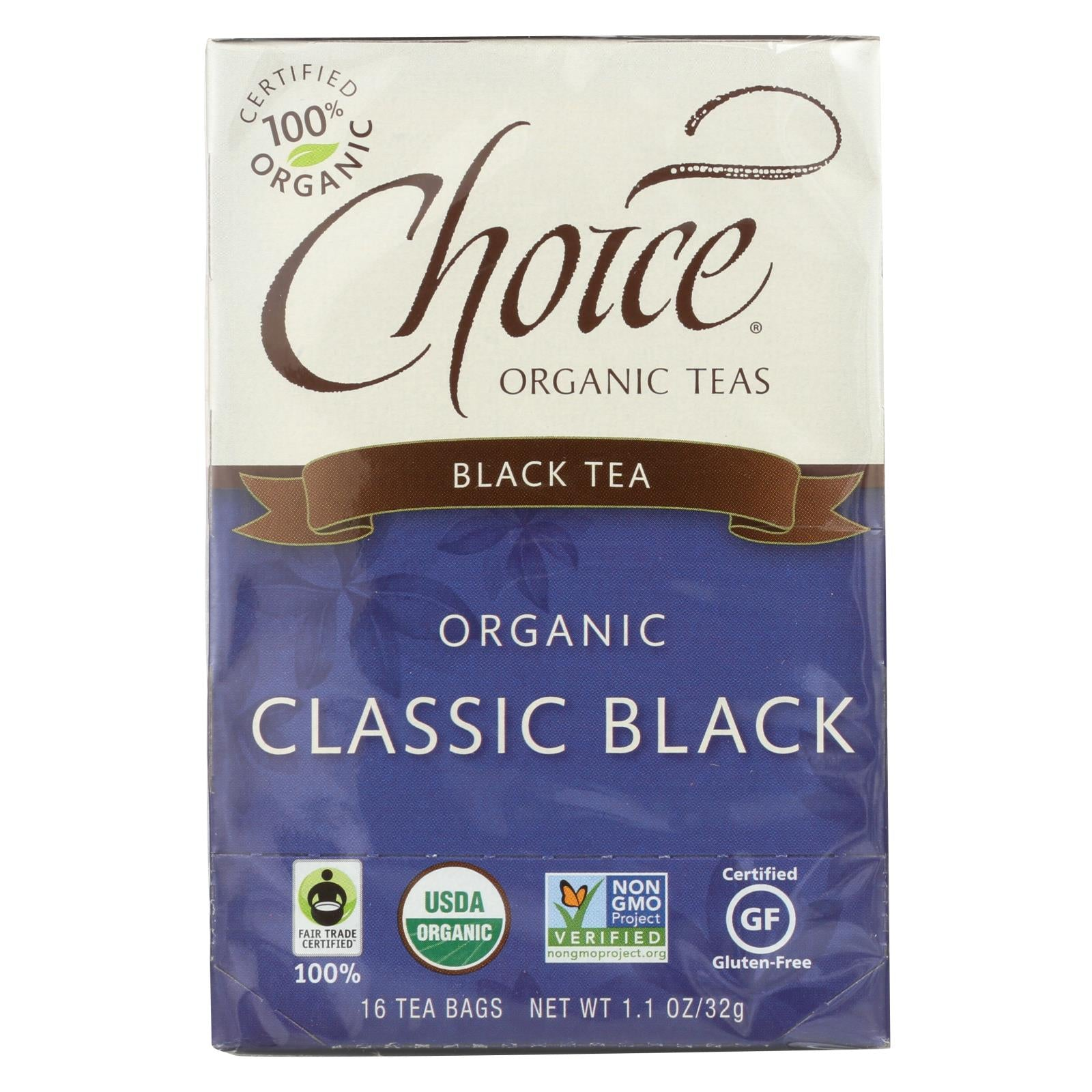 Buy Choice Organic Teas Black Tea - 16 Tea Bags - Case of 6 - Black Tea from Veroeco.com
