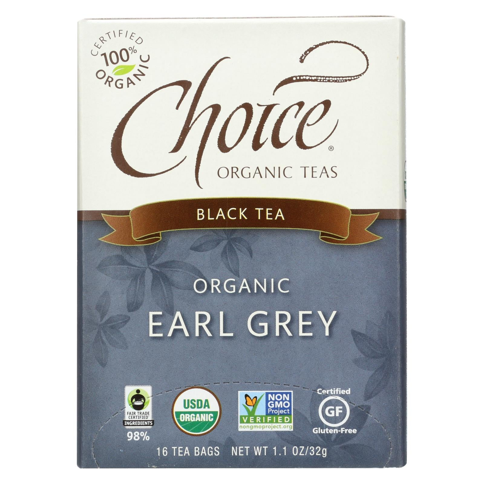 Buy Choice Organic Teas - Earl Grey Tea - 16 Bags - Case of 6 - Black Tea from Veroeco.com