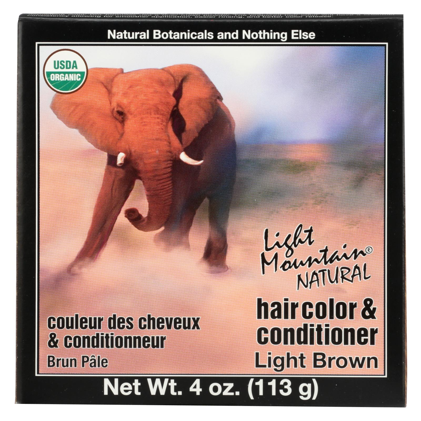 Buy Light Mountain Hair Color/Conditioner - Organic - Light Brown - 4 oz - Conditioner from Veroeco.com