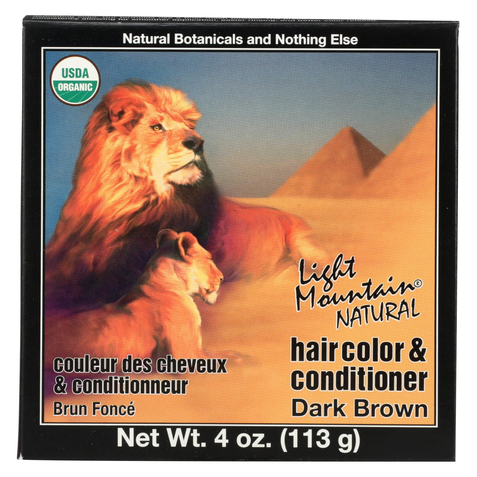 Buy Light Mountain Organic Hair Color and Conditioner - Dark Brown - 4 oz - Conditioner from Veroeco.com