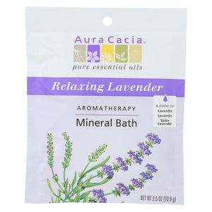 Buy Aura Cacia Aromatherapy Mineral Bath Lavender Harvest - 2.5 oz - Case of 6 - Aromatherapy from Veroeco.com