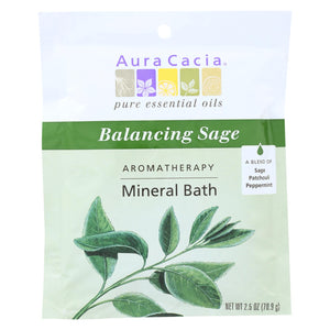 Buy Aura Cacia Aromatherapy Mineral Bath Balancing Sage - 2.5 oz - Case of 6 - Aromatherapy from Veroeco.com