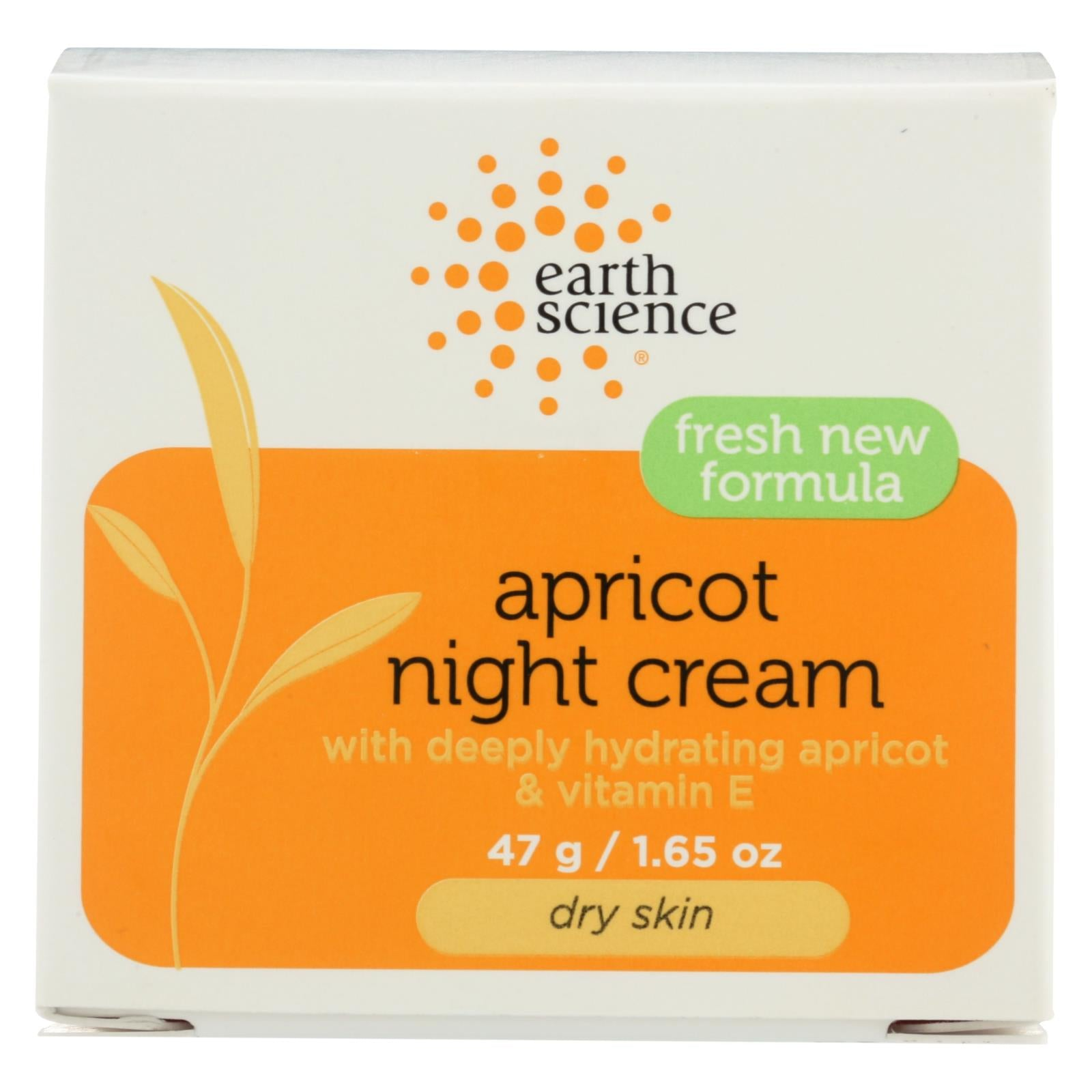 Buy Earth Science Apricot Night Cream - 1.65 oz - Moisturizers from Veroeco.com