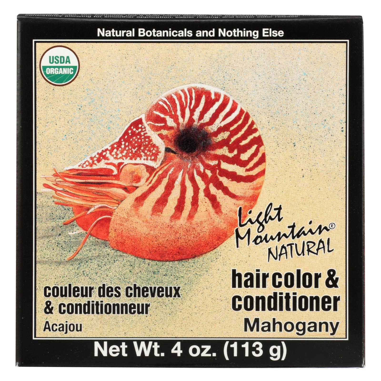 Buy Light Mountain Hair Color - Mahogany - Case of 1 - 4 oz. - Hair Color from Veroeco.com