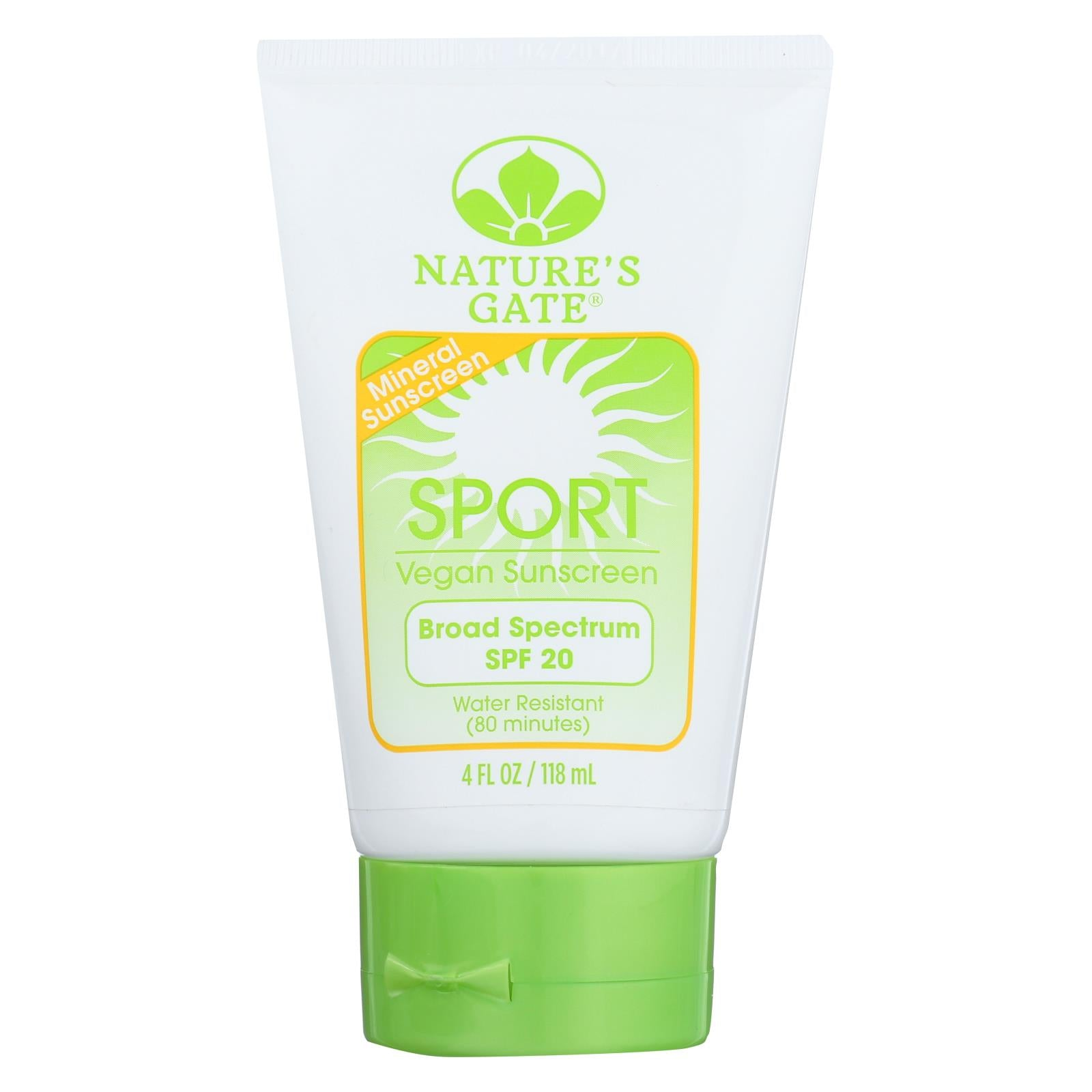 Buy Nature's Gate Mineral Sportblock with SPF 20 - 4 oz - Sun Care from Veroeco.com