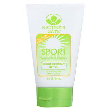 Nature's Gate Mineral Sportblock with SPF 20 - 4 oz