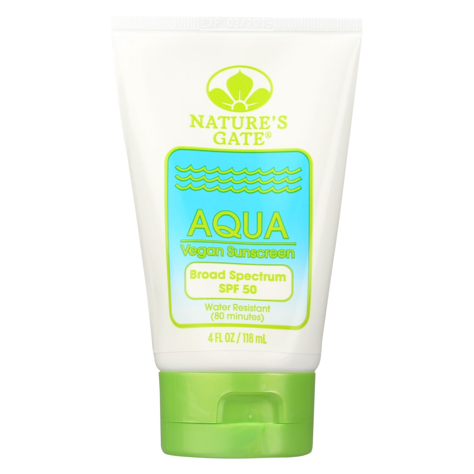 Buy Nature's Gate Aqua Block Sunscreen SPF 50 Fragrance Free - 4 fl oz - Sun Care from Veroeco.com