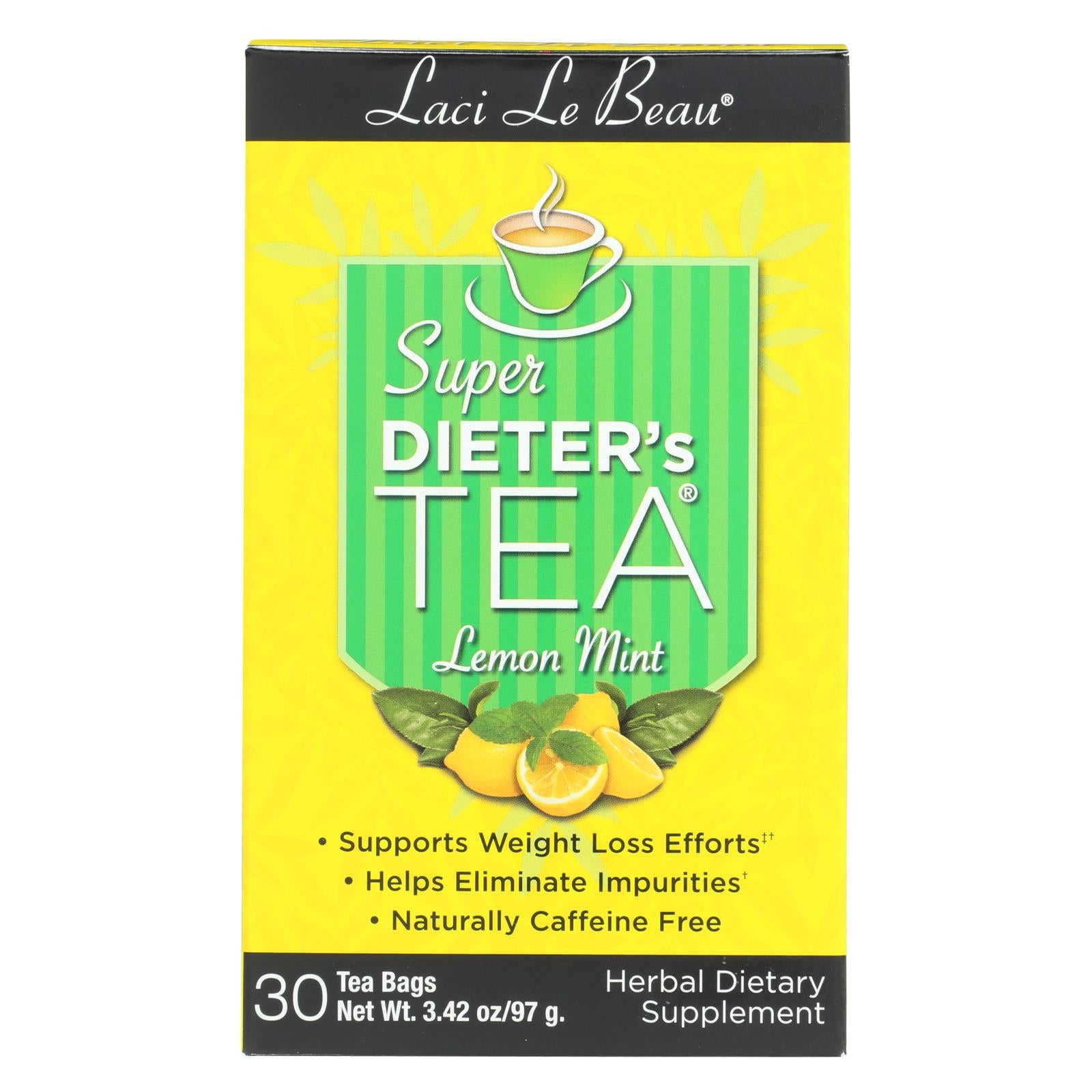 Buy Laci Le Beau Super Dieter's Tea Lemon Mint - 30 Tea Bags - Wellness Tea from Veroeco.com