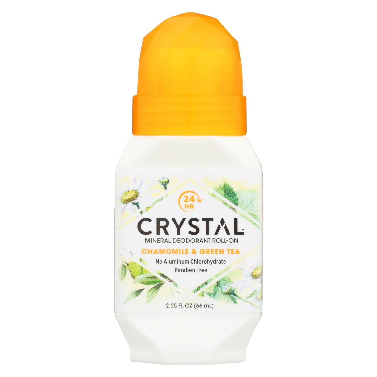 Buy Crystal Essence Mineral Deodorant Roll-On Chamomile and Green Tea - 2.25 fl oz - Deodorants from Veroeco.com
