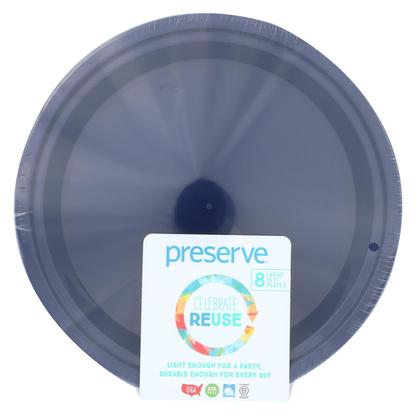 Buy Preserve On the Go Large Reusable Plates - Midnight Blue - 8 Pack - 10.5 in - Tableware from Veroeco.com