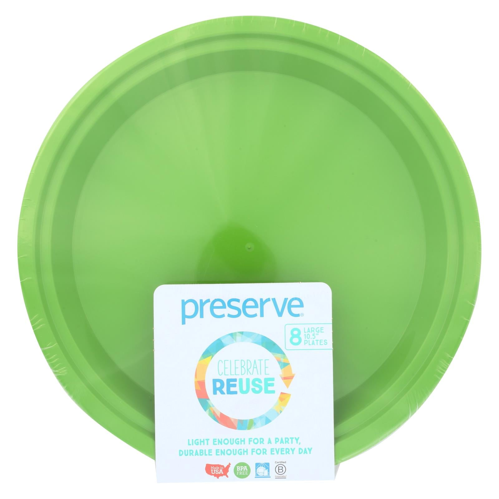 Buy Preserve On the Go Large Reusable Plates - Apple Green - 8 Pack - 10.5 in - Tableware from Veroeco.com