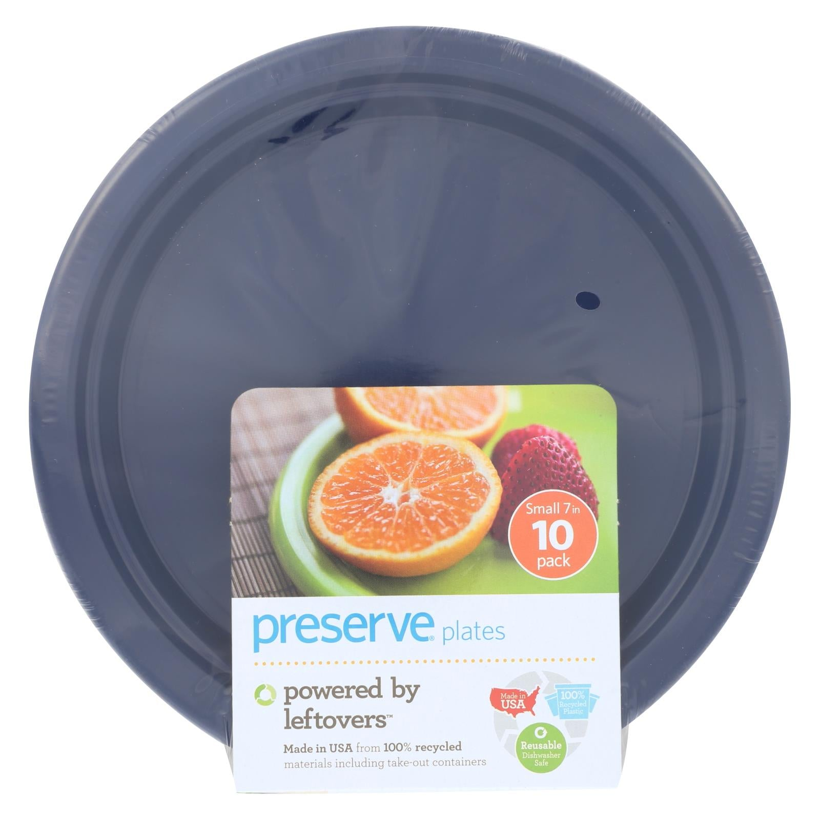 Buy Preserve On the Go Small Reusable Plates - Midnight Blue - 10 Pack - 7 in - Tableware from Veroeco.com