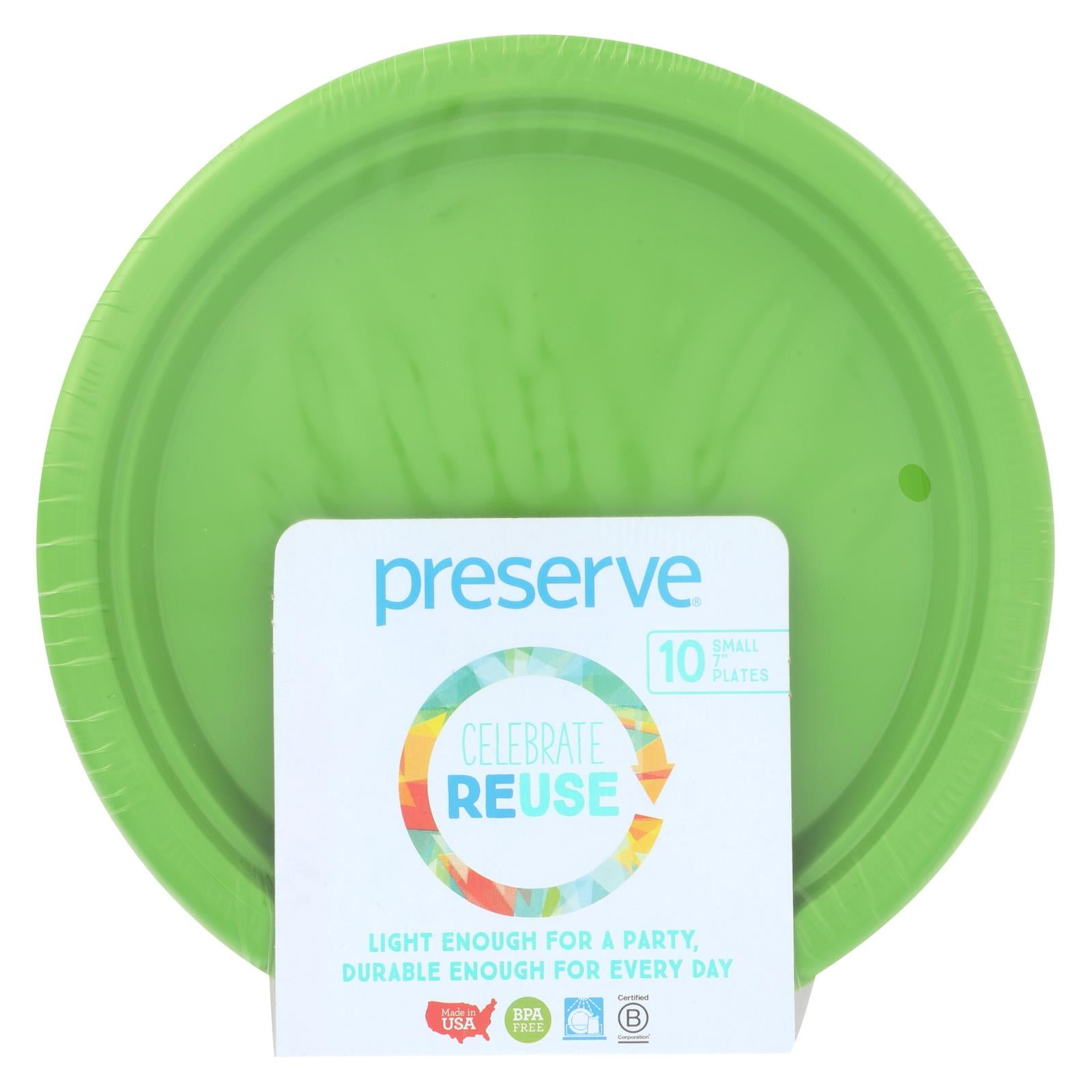 Buy Preserve On the Go Small Reusable Plates - Apple Green - 10 Pack - 7 in - Tableware from Veroeco.com