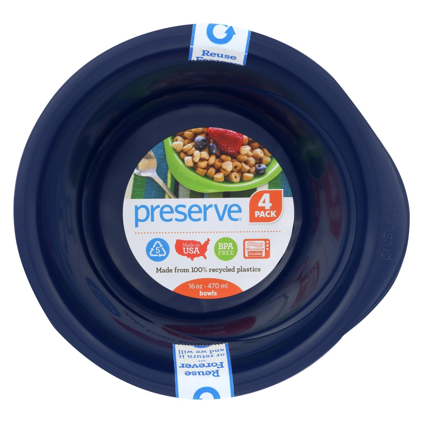 Buy Preserve Everyday Bowls - Midnight Blue - 4 Pack - 16 oz - Tableware from Veroeco.com